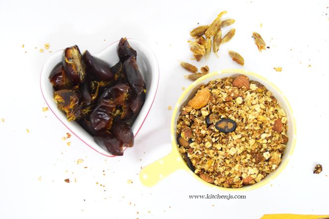dates and granola